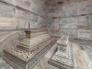 An Ivory White Marble Mausoleum Taj Mahal