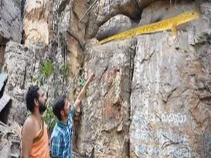 Unseen Golden Lizard At Tirumala Telugu